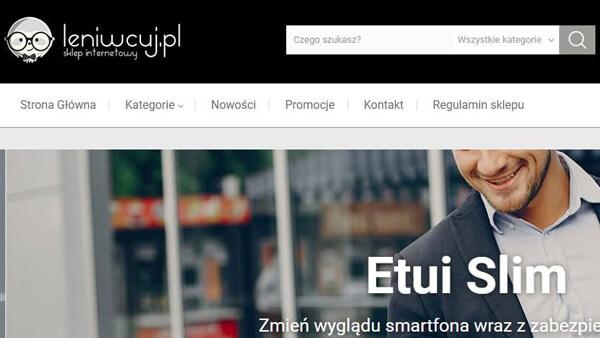 Leniwcuj.pl - Motyw sklepu internetowego